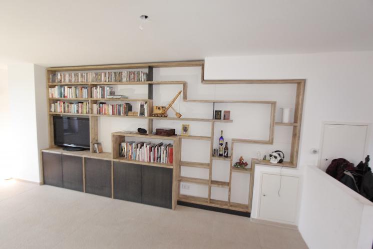 kast op maat,gebruikt steigerhout,zwart staal,meubel op maat,Amsterdam,Zaandam