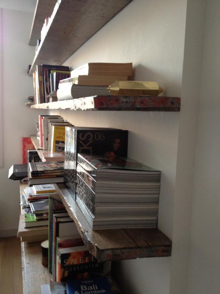 Boekenkast steigerhout beer hendriks maatwerk meubels for Boekenkast steigerhout