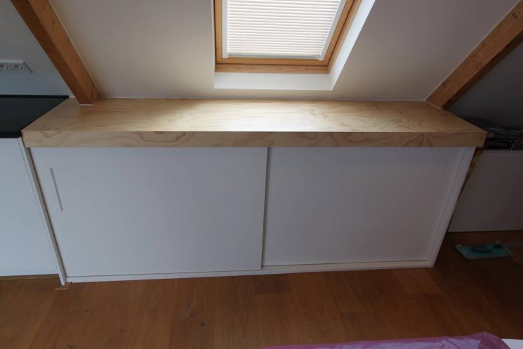 Keuken Underlayment : keuken onder schuin dak,underlayment aanrechtblad,schuifdeurtjes