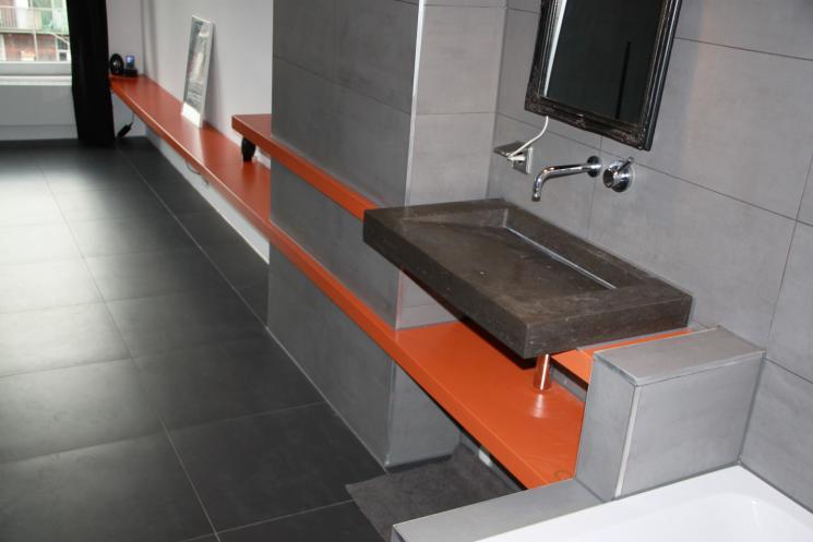 Uitgelezene Zwevende plank met wasbak | Beer Hendriks - maatwerk & meubels QN-08