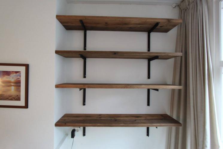 Zwevende Planken Op Maat.Zwevende Plank Steigerhout Fabulous Zwevende Boekenplank With