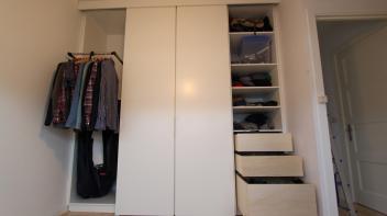 meubels op maat,kast tot plafond,Amsterdam,kast met schuifdeuren,kledingkast tot plafond
